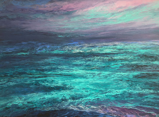 SeaSighting, 2019, Acryl auf Leinwand, 60x80cm