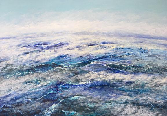 Skies High, 2019, Acryl auf Leinwand, 80x120 cm