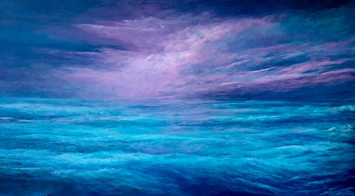 Brightning Up, 2019, Acryl auf Leinwand, 100x180 cm, in Privatbesitz