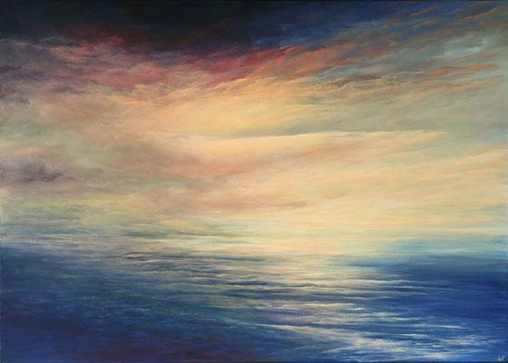 Coloured Skies, 2019,Acryl auf Leinwand, 100x140 cm