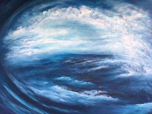 Waterworld, 2020, Acryl auf Leinwand, 100x140 cm