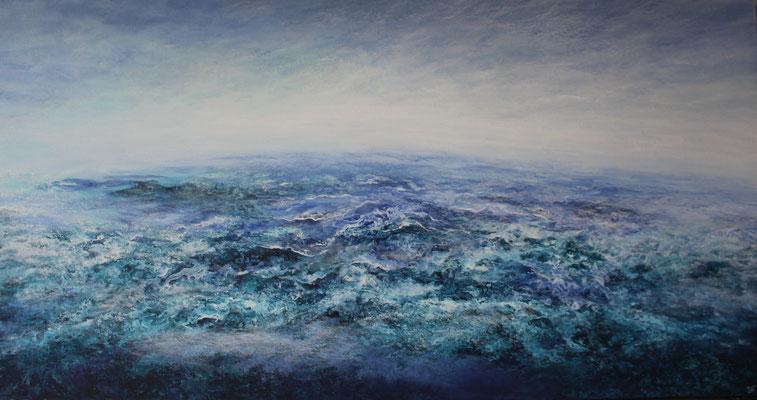 Terra Nostra, 2021, Acryl auf Leinwand, 90x180 cm