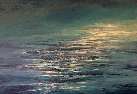 Deepening Up, 2019, Acryl auf Leinwand, 100x140 cm, verkauft,  in Privatbesitz