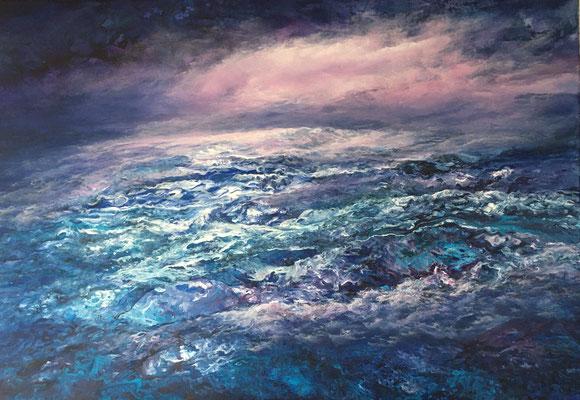 Terra Incognita, 2020, Acryl auf Leinwand, 70x100 cm, verkauft, in Privatbesitz