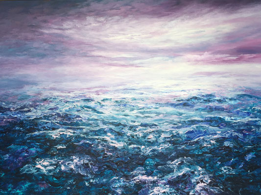 Magenta Skies, 2020, Acryl auf Leinwand, 100x140 cm