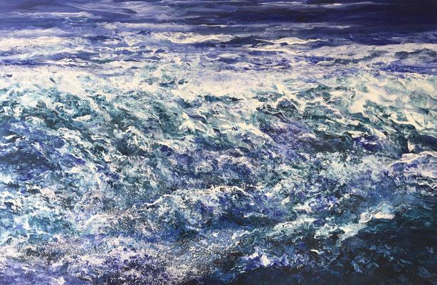 Dancing Waters, 2020, Acryl auf Leinwand, 80x120 cm