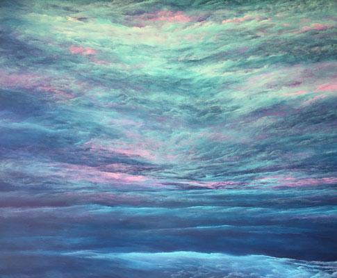 SkySighting, 2019, Acryl auf Leinwand, 140x160 cm