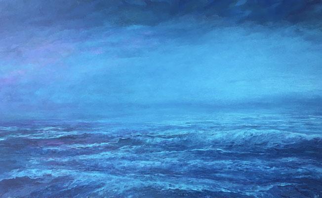Bright Night II, 2019, Acryl auf Leinwand, 70x120 cm, verkauft, in Privatbesitz Mallorca
