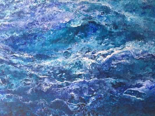 Into the Blue, 2020, Acryl auf Leinwand, 140x160 cm