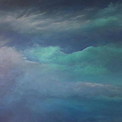 Candy Skies, 2019, Acryl auf Leinwand, 90x90 cm
