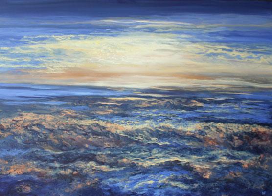 Waterside, 2021, Acryl auf Leinwand,100x140 cm