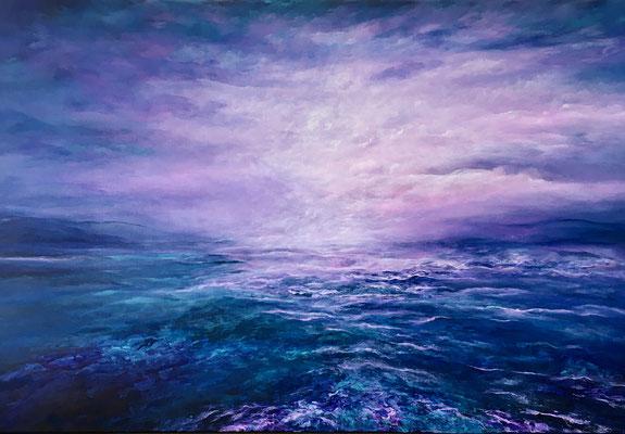 Coloured Sea, 2020, Acryl auf Leinwand, 100x160 cm