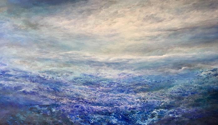 Dreamscape, 2019, Acryl auf Leinwand, 100x180 cm, verkauft, in Privatbesitz Schweiz