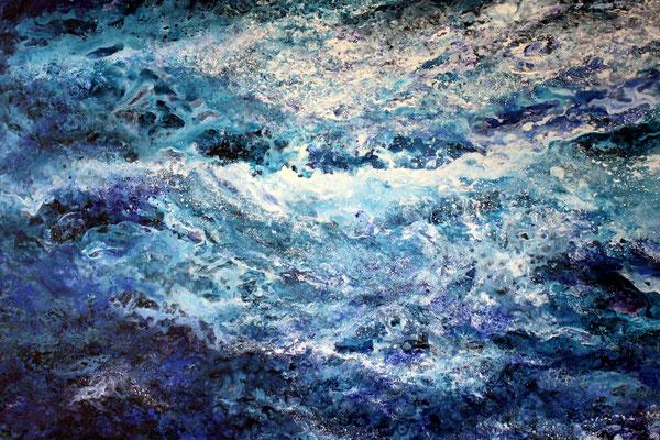 Moved by the Sea, 2020, Acryl auf Leinwand, 120x160 cm