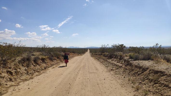 Monotoner Gang durch die Wüste