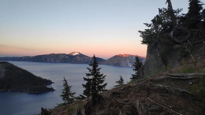 Nochmals Sonnenuntergang am Crater Lake