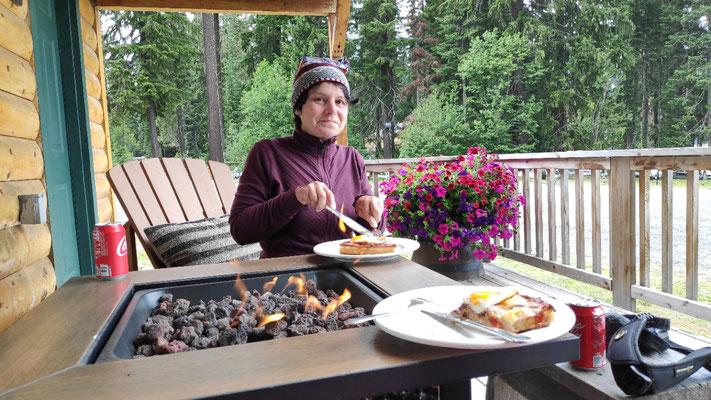 Mittagessen auf der Veranda