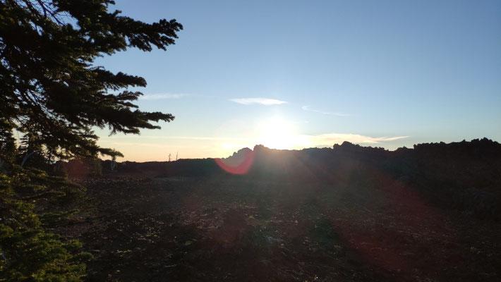 Sonnenaufgang über dem Lavafeld