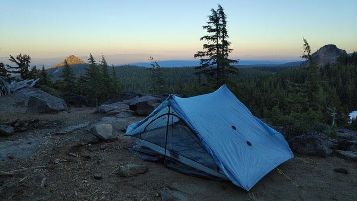 Abend auf dem Plateau, nach dem Mount Thielsen