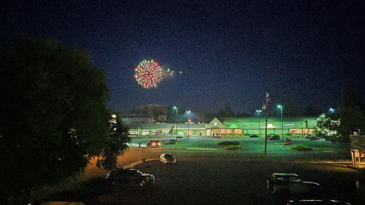 Feuerwerk in Bend. Zum Independence Day.