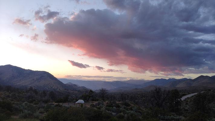 Sonnenuntergang am Walker Pass