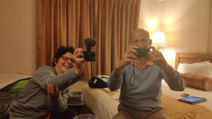 Am Abend in deren Cabin auf ein Getränk, sehr netter Abend! Auch Ben ist ein passionierter Fotograf.