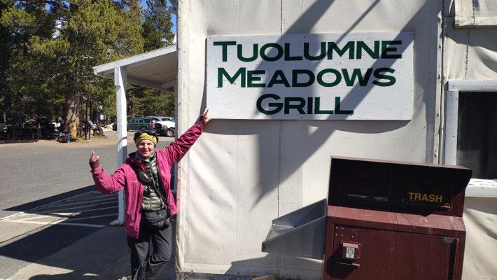 Zwischenstopp in Tuolumne Meadows: Essen!