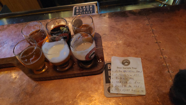 Sechs Bier-Samples aus der Deschuttes Brewery