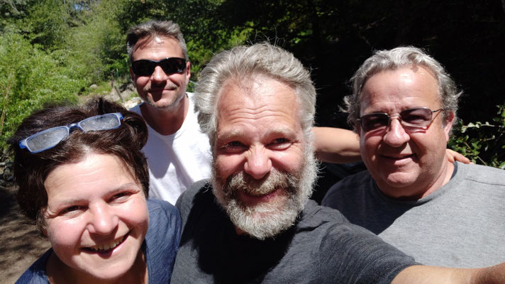 Eric und Wade an der Golden Oaks Spring kennengelernt, Techniker von der Windfarm