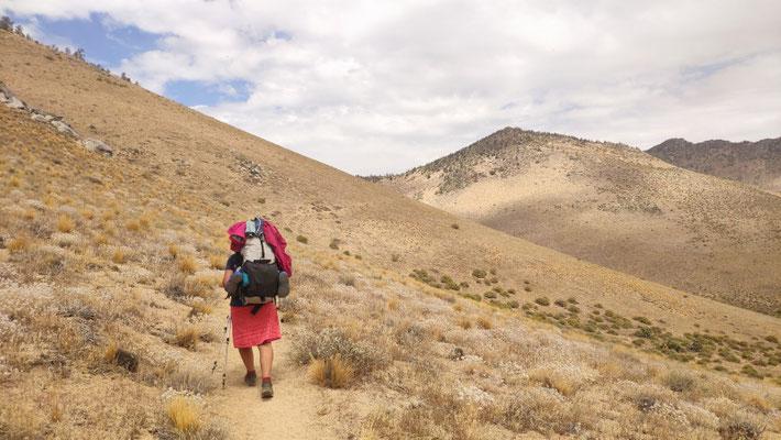 Die letzten 80 km durch die kalifornische Wüste