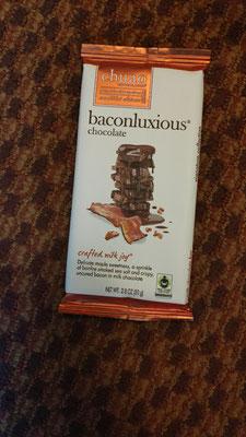 Wow, Schokolade mit Bacon! Wie die wohl schmeckt?