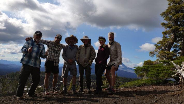 Laufgemeinschaft für einen Tag: Chad, Kolohe, Skipper, Salty Dog, Sabine und Olli