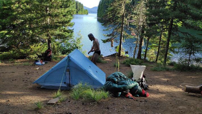 Traumhafter Platz am Timothy Lake!