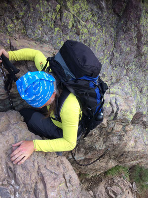 Korsika (2018, GR20) - Aufstieg auf den Monte Cinto (2.706m), 1.200 Höhenmeter müssen auf der Tagesetappe von Haut Asco aus überwunden werden!