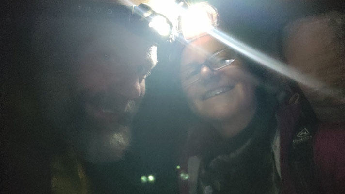 Ein Bild vom Abend zuvor: Uber-Fahrer Todd hat uns zu später Stunde zum Trailhead zurückgefahren