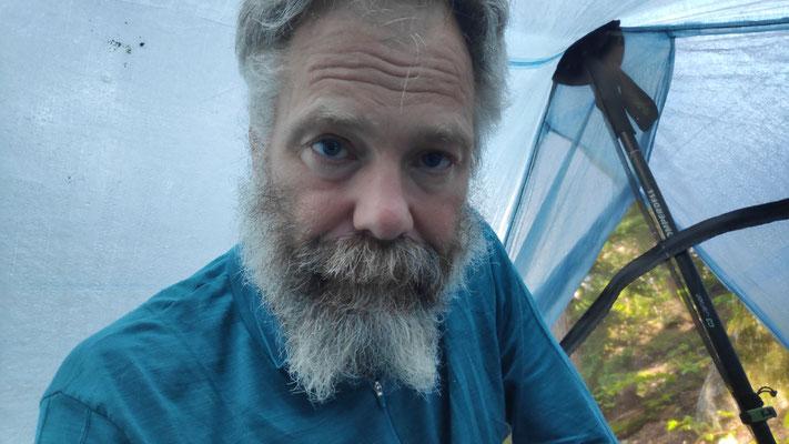 Kleiner Teufel im Zelt, von Sabine gestylter Bart