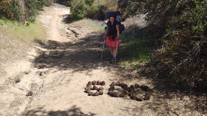 600-Meilen-Marker