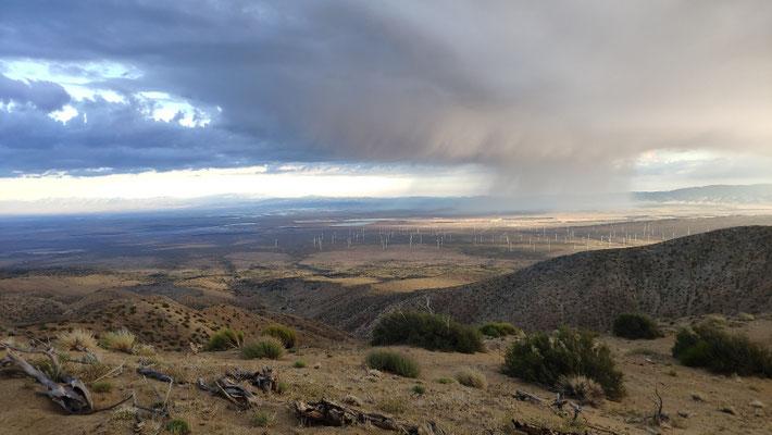 Im Wüstental regnete es bereits
