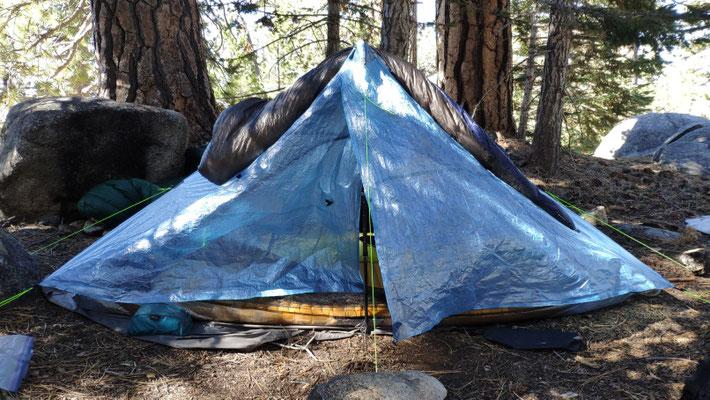 Unser schönes neues Zelt