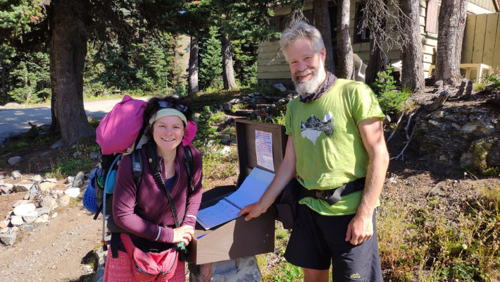 Trailregister am Harts Pass