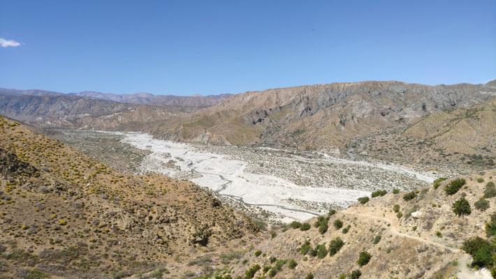 Das Tal, durch das der Whitewater River fließt