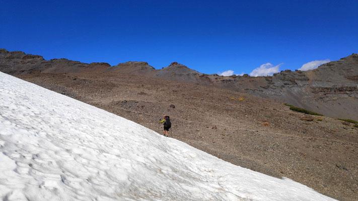 Schneepatch vor Sonora Pass