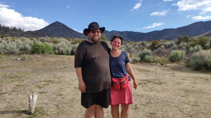 Second Chance (Cory) und Sabine - beide leichter, als sie den Trail begonnen haben.