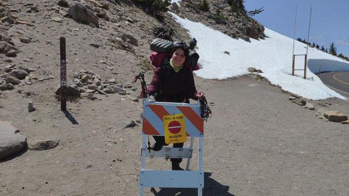 Am anderen Ende bemerken wir, dass der Trail gesperrt war.