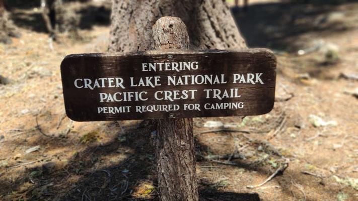 Wir kommen Crater Lake näher - einem Höhepunkt des PCTs!