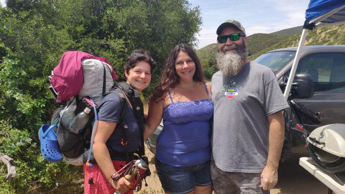 Sabine mit Ann und Dale, Trailangels