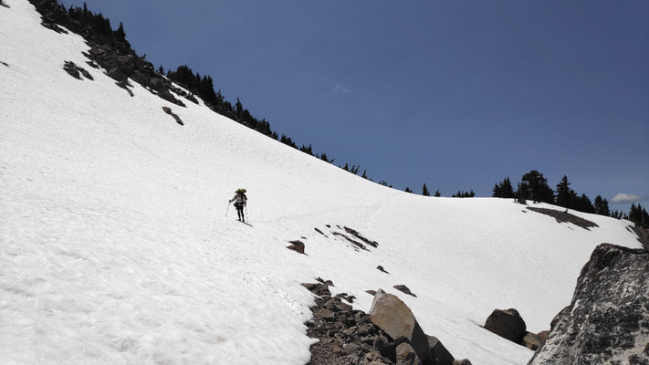 Traverse zum Watchman Point, Crater Lake Rim
