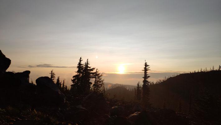 Sonnenaufgang am Mt Jefferson, in mehreren Aufnahmen
