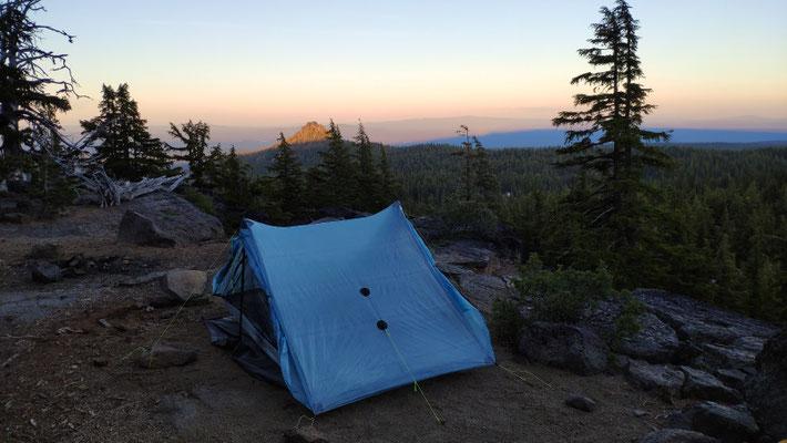 Toller Zeltplatz auf einer Anhöhe