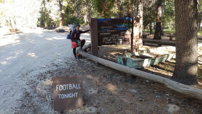 Am Vermillion Valley Resort. Fussball haben wir dort allerdings nicht gesehen ;-)